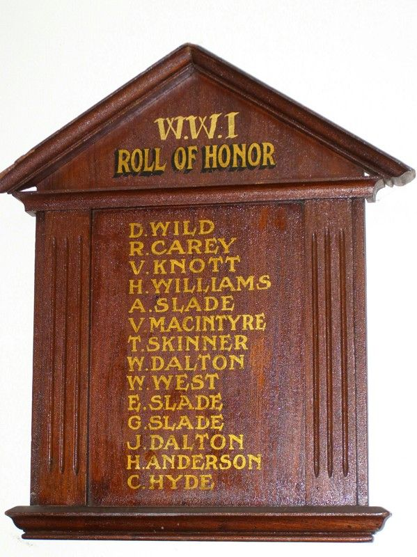 Salt Ash Honour Roll : 09-October-2014