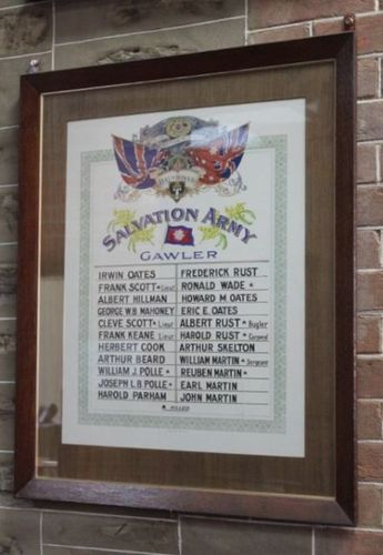 Salvation Army Honour Roll : 22-May-2012