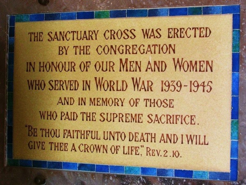 Sanctuary Cross Plaque:17-April-2016