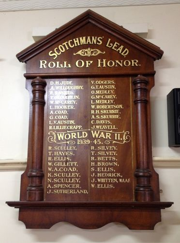Scotchmans Lead Honour Roll : November 2013