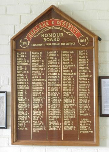 Sea Lake & District Honour Roll : 22-March-2013