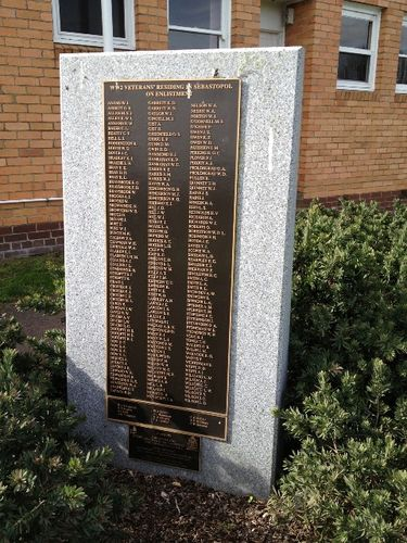 Sebastopol WW2 Honour Roll : October 2013