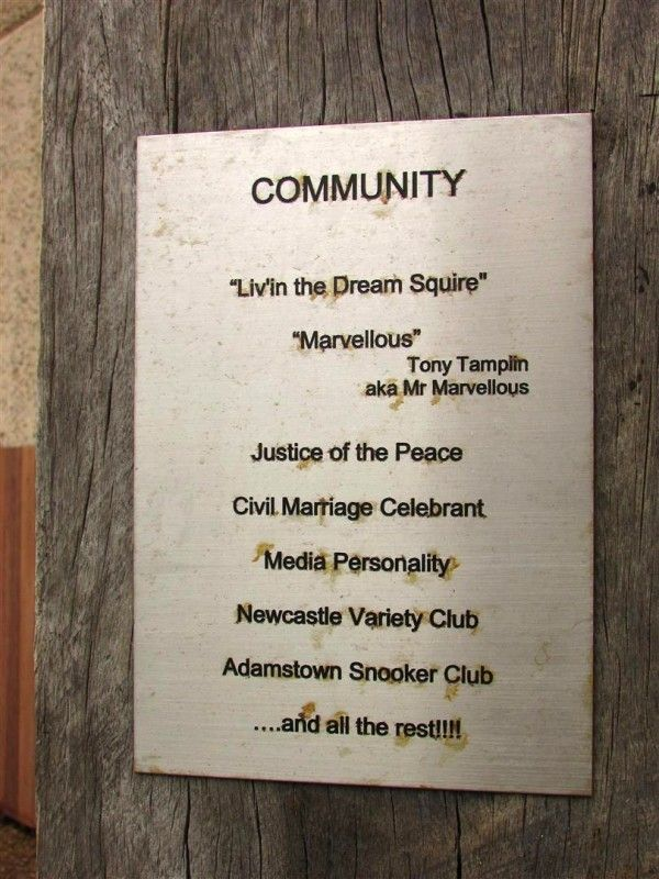 Community Plaque : 28-December-2014