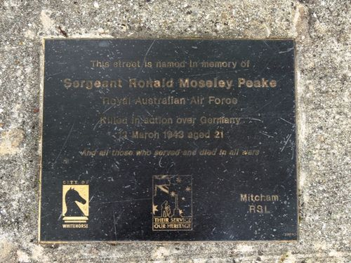 Sergeant Ronald Moseley Peake : 28-November-2011