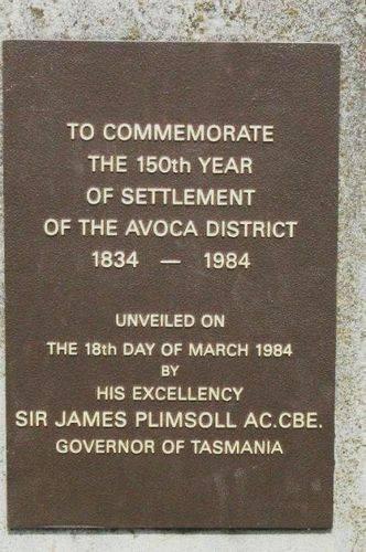 Settlers Memorial Plaque