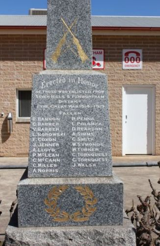 Sevenhills War Memorial : 7-September-2011