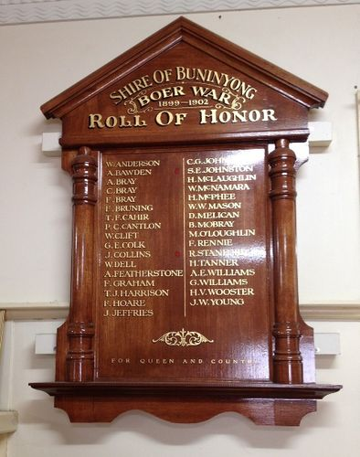 Boer War Honour Roll : November 2013