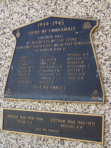 Shire of Coonamble Honour Roll : 01-August-2014