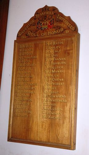 Silverton Tramway Employees Roll of Honour : 01-June-2013