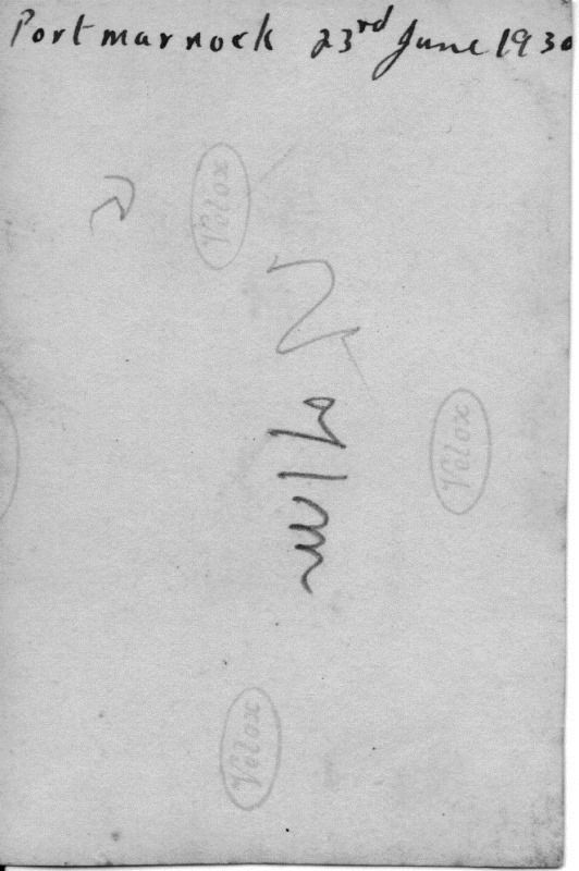 Bill Goodey`s writing on the back of the 23-June-1930 photograph