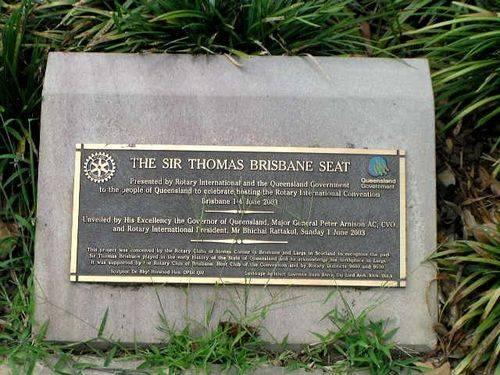Sir Thomas Brisbane  Plaque