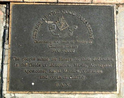 Sisters of the Good Samaritan Plaque