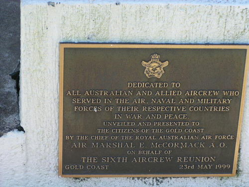 Sixth Aircrew Reunion Plaque