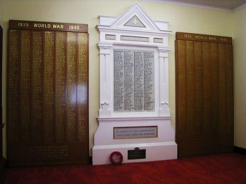 Soldiers Memorial Hall WW2 Honour Rolls