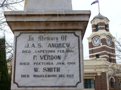 Boer War Memorial Inscription : 04-August-2014