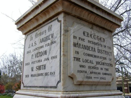 Boer War Inscriptions : 04-August-2014