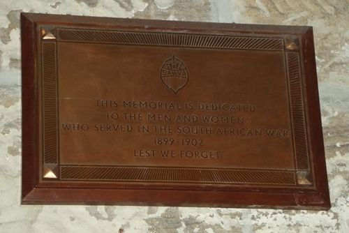 South African War Veterans Memorial Plaque : March 2014