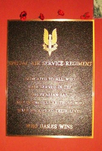 Special Air Service Regiment Plaque