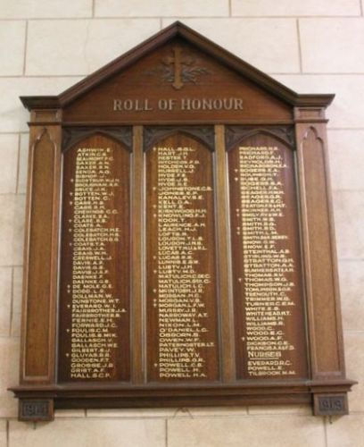 St Augustine Anglican Church World War One Honour Roll : 11-December-2012