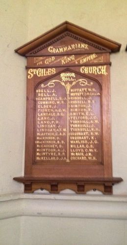 Grammarians Honour Roll : November 2013