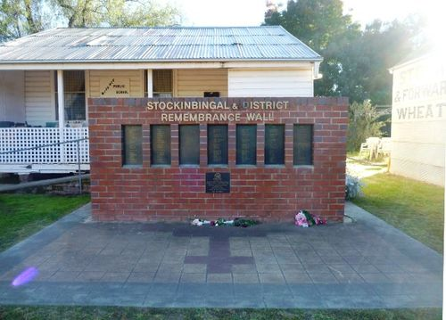 Stockinbingal and District Remembrance Wall : 29-April-2012