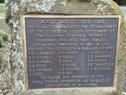 Stoneleigh Soldier Settlement Plaque : November 2013