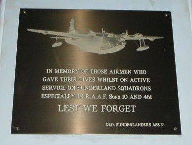 Sunderland Squadrons Plaque