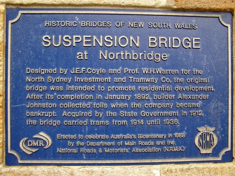Historic Bridges Plaque : 05-June-2013