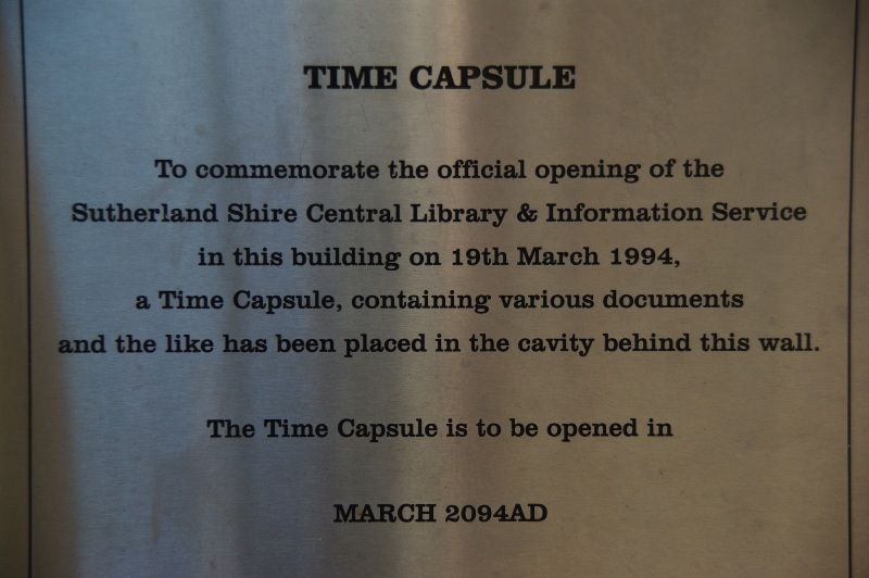 Time Capsule Plaque: 05-May-2015