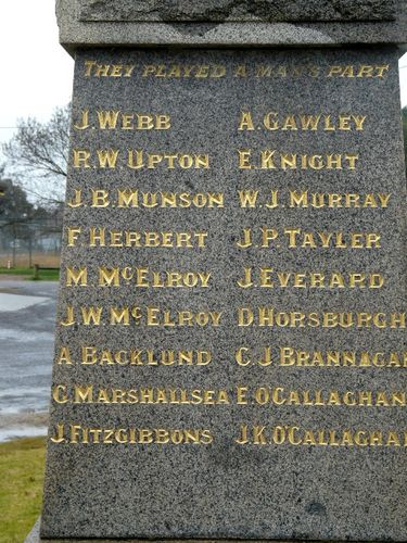 Swanpool Soldiers Memorial : 08-August-2011