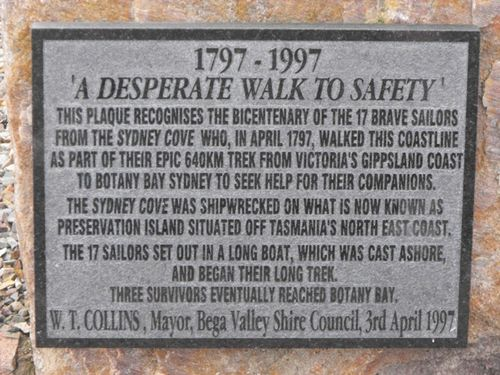 Sydney Cove Plaque