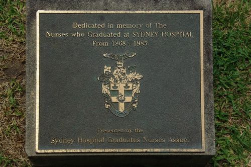 Sydney Hospital Nurses Plaque : November 2013