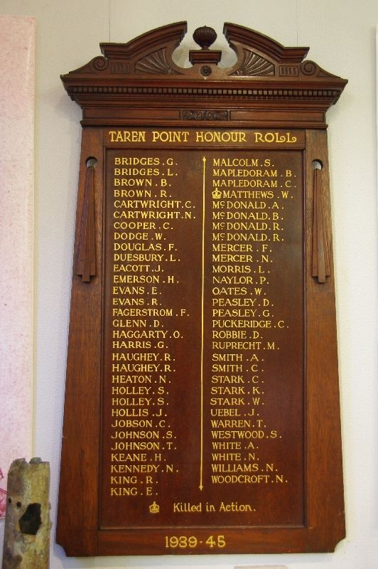 Taren Point Honour Roll : October-2014
