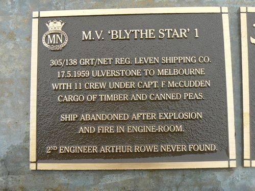 M.V. Blythe Star 1 Plaque : 2007