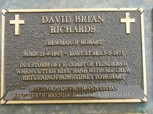 David Brian Richards Plaque : 2007