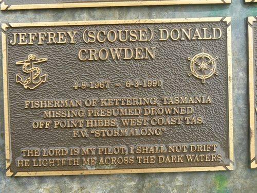Jeffrey (Scouse) Donald Crowden : 2007