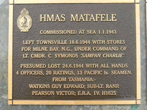 Naval Plaque HMAS Matafele : 2007