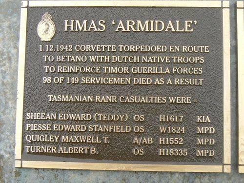 Naval Plaque- HMAS Armidale : 2007