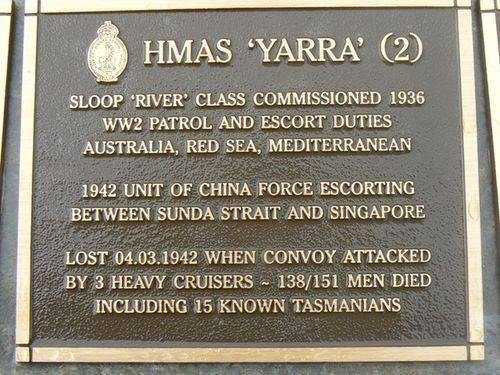 Naval Plaque - HMAS Yarra 2 : 2007