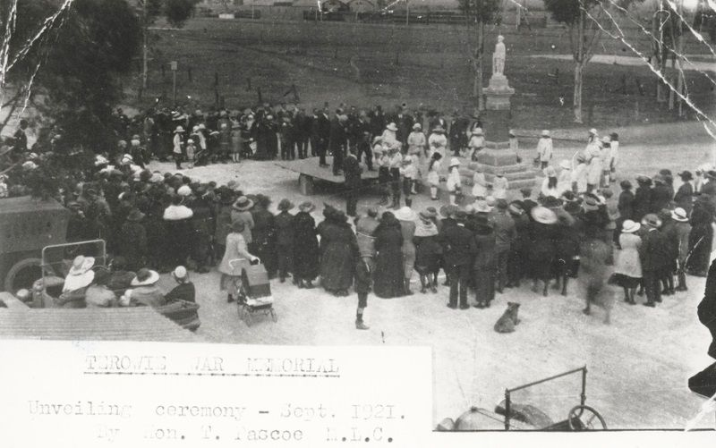 Unveiling Ceremony, September 1921 : State Library of South Australia - B-32953