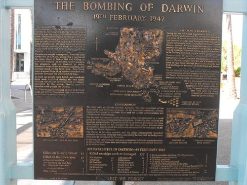Darwin Bombing -Civilians Plaque / May 2013