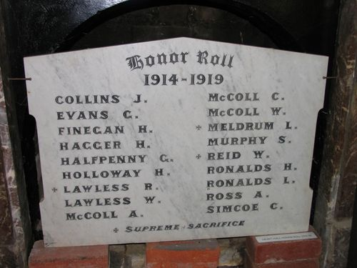 The Heart Honour Roll 1914 - 1919 : 13-December-2011