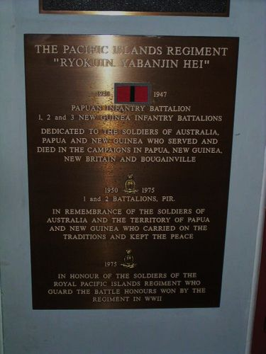 The Pacific Islands Regiment Plaque