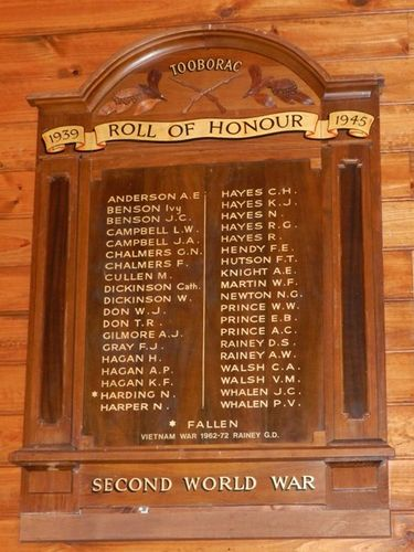 Tooborac Honour Roll : 17-March-2013