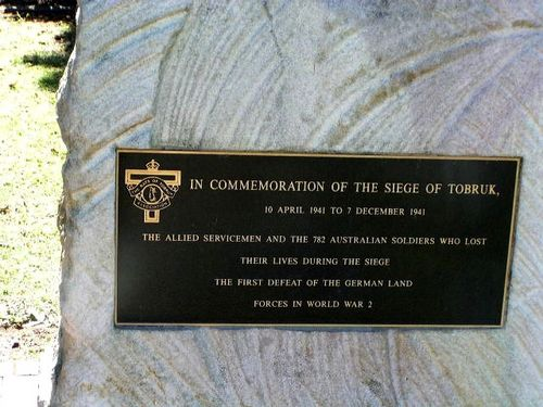 Toowoomba Siege of Tobruk Memorial Inscription