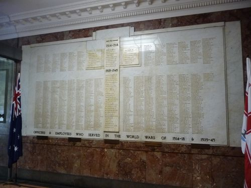 Town Hall Roll of Honour : 20-May-2011