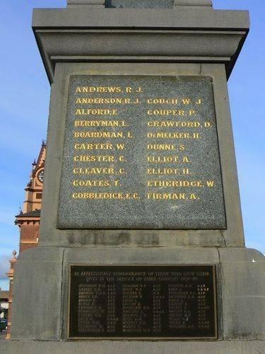 Traralgon War Memorial   Rear