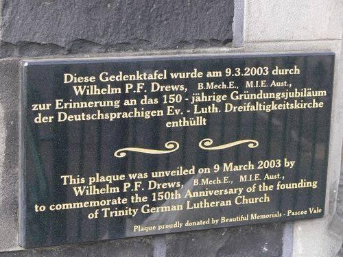 Trinity German Lutheran Church Anniversary : 10-July-2011