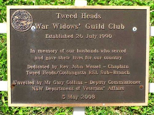 Tweed Heads War Widows Guild Plaque /March