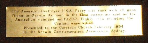 USS Peary Plaque / May 2013